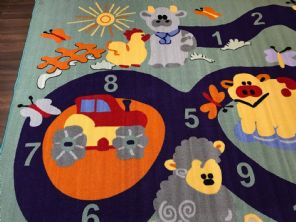 NEW FARM COUNTING CHILDREN 200X300CM RUGS MATS HOME SCHOOL EDUCATIONAL MULTI